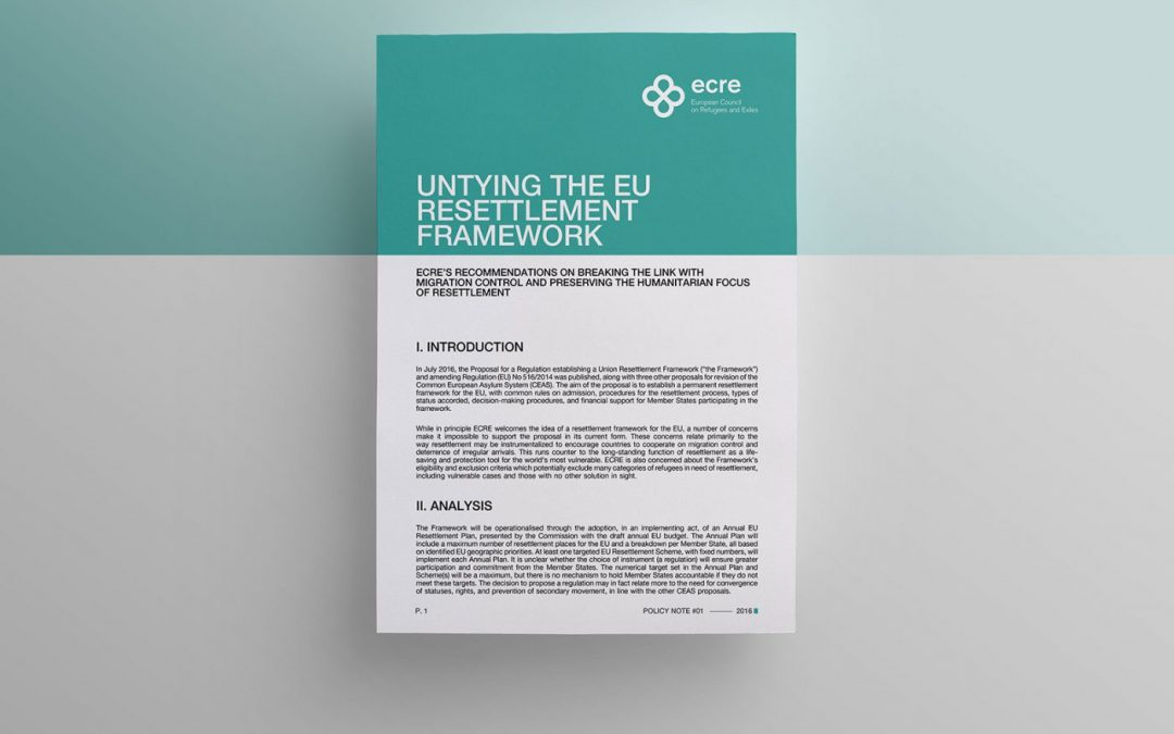Policy Note: Untying the EU Resettlement Framework