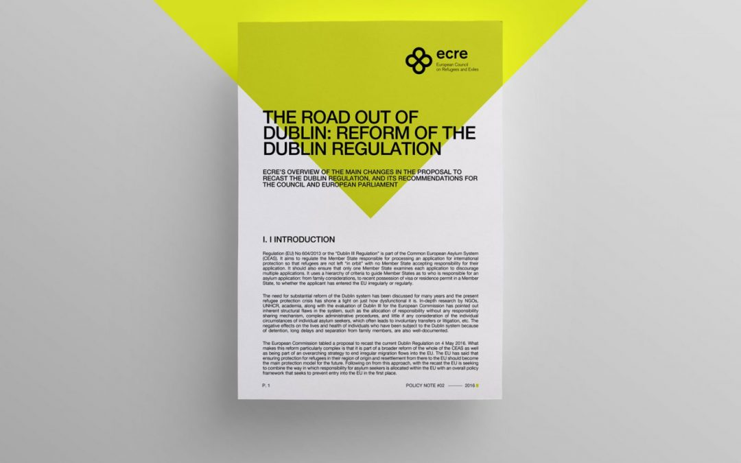 Policy Note: The Road out of Dublin: reform of the Dublin Regulation