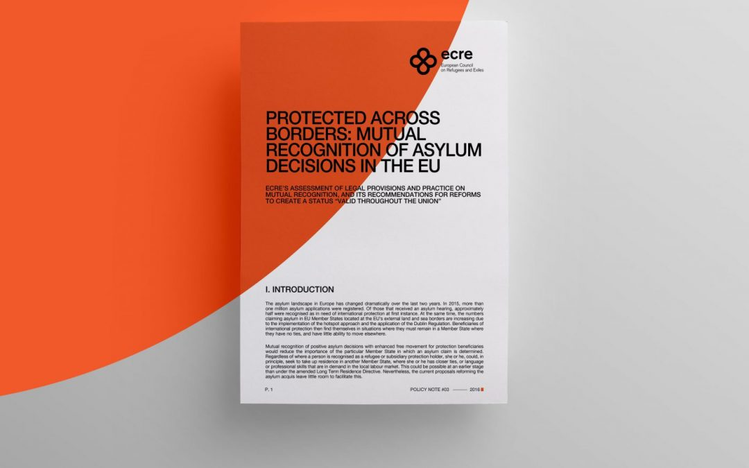 Protected Across Borders: Mutual Recognition of Asylum Decisions in the EU