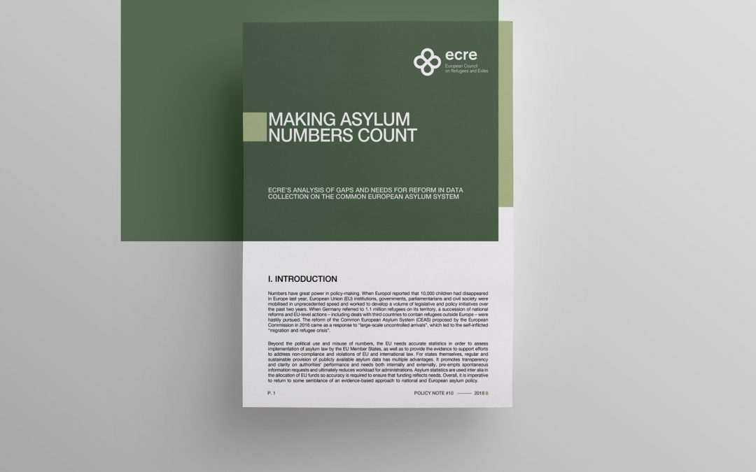 ECRE policy note: Making Asylum Numbers Count – Gaps and Reform Needs in the Area of Asylum Statistics