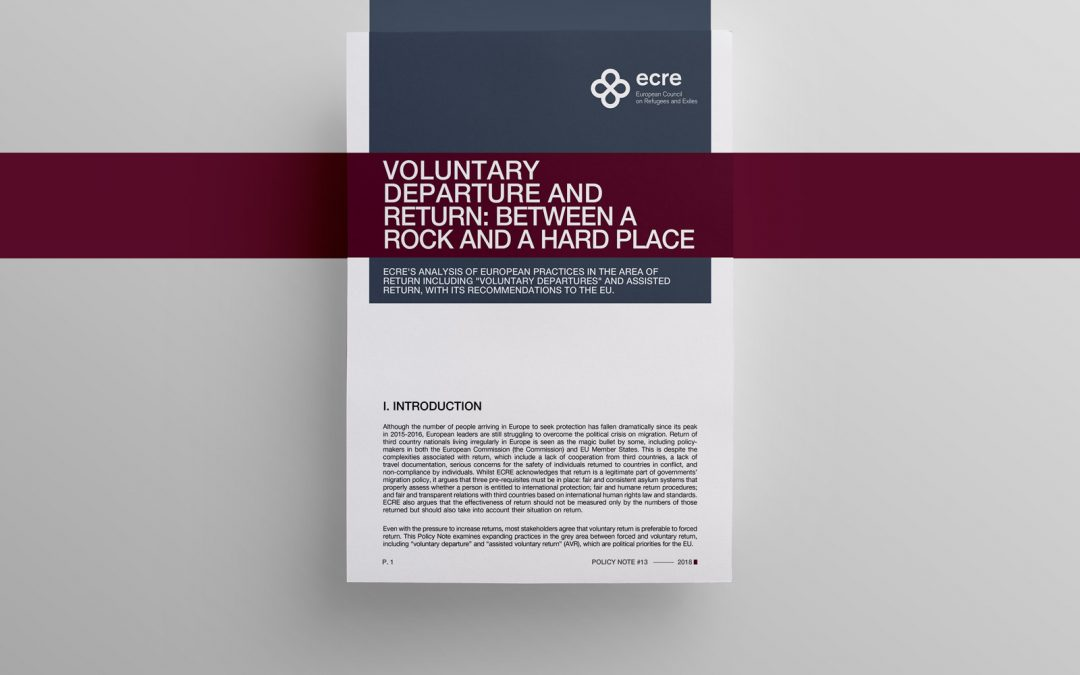 ECRE Policy Note: Voluntary Departure and Return: Between a Rock and a Hard Place