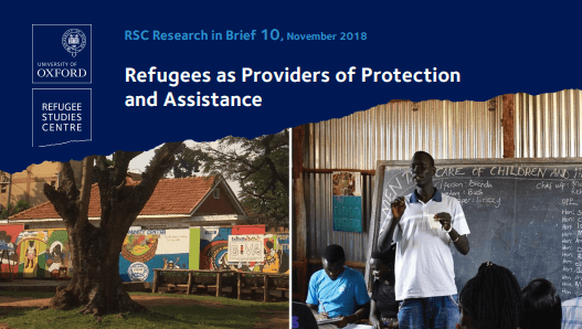 RSC Report: Refugees as Providers of Protection and Assistance