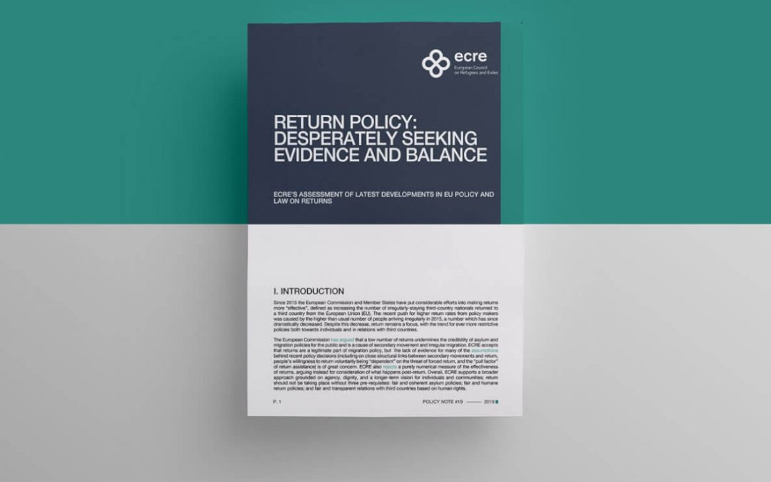 ECRE Policy Note: Return Policy: Desperately Seeking Evidence and Balance