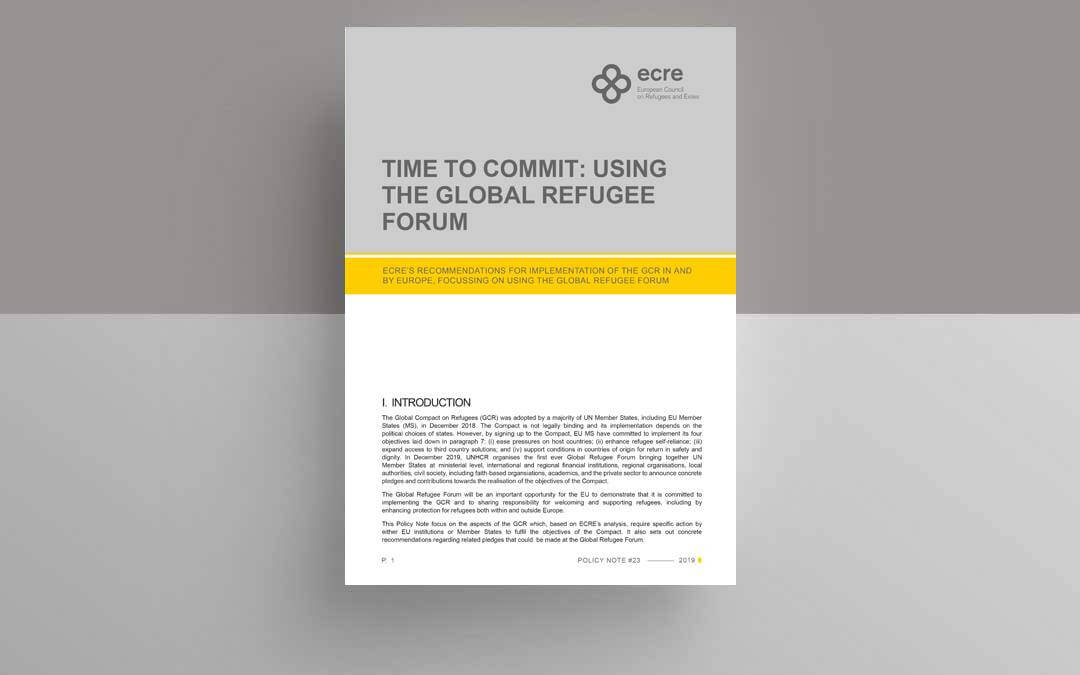 Policy Note: Time to Commit: Using the Global Refugee Forum