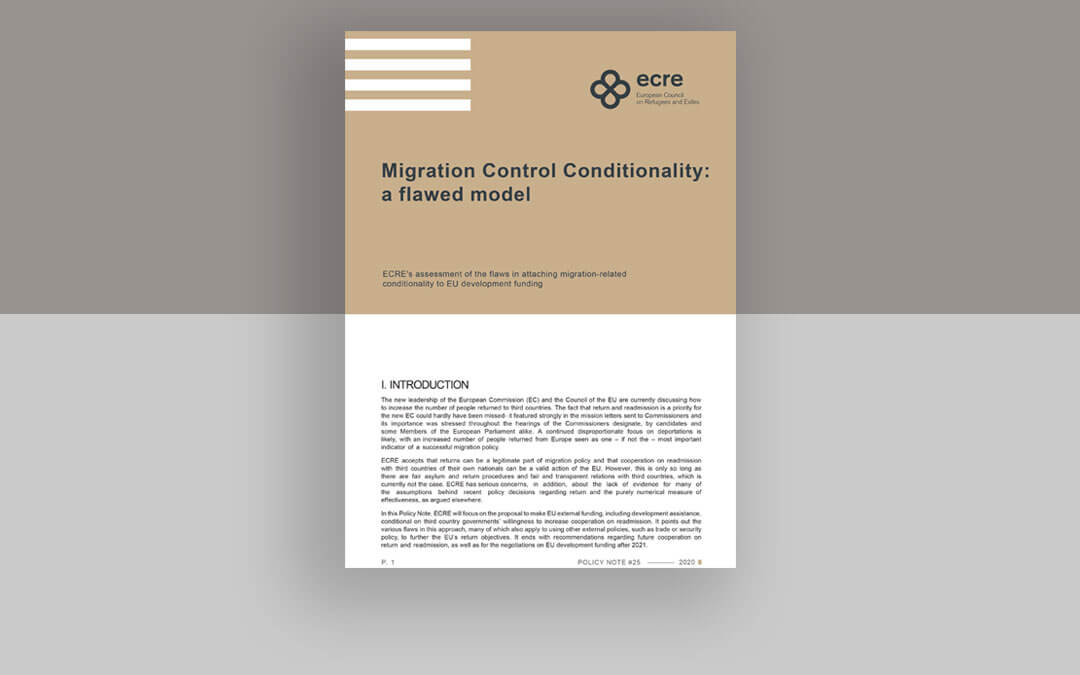 ECRE Policy Note: Migration Control Conditionality: A Flawed Model
