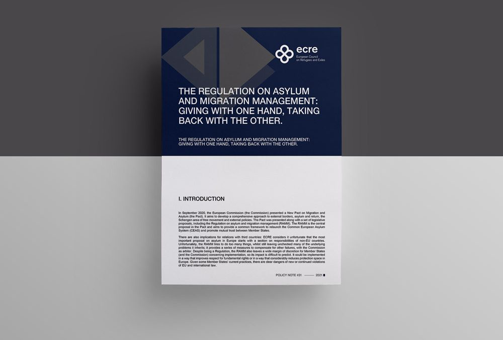 ECRE Policy Note: The Regulation on asylum and migration management: giving with one hand, taking back with the other
