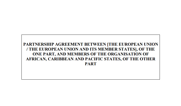 New Partnership Agreement between the EU and the Organisation of African, Caribbean and Pacific States (OACPS) published